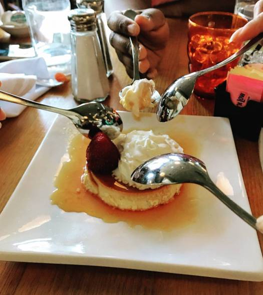 friendship, flan, love, best friends, dessert photos, food photography
